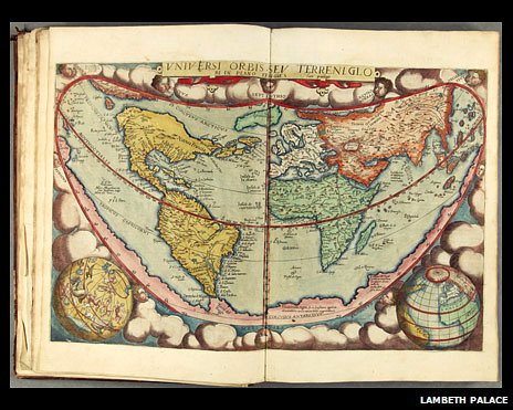 World map from: Daniel Cellarius, Speculum orbis terrarum (Antwerp, 1578)