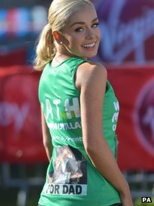 Katherine Jenkins before running the London Marathon