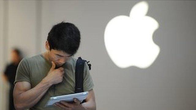 Customer using his iPad