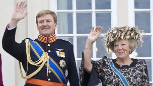Queen Beatrix and her son Prince Willem-Alexander