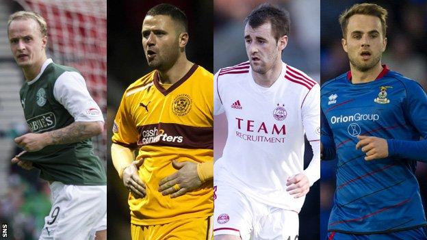 Leigh Griffiths, Michael Higdon, Niall McGinn, Andrew Shinnie