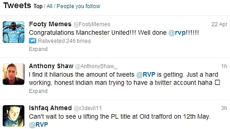 Screengrab of tweets to @rvp