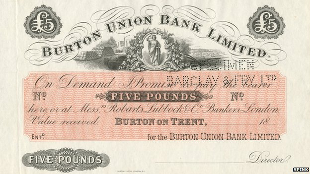 The Burton £5 note