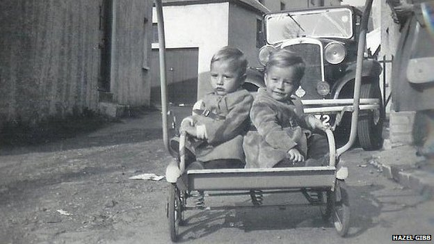 The Gibb brothers as children