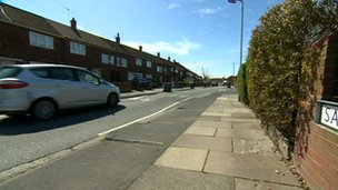 Salisbury Avenue in Bootle