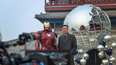 Filming Iron Man 3 in Beijing