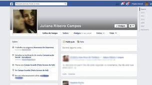 Facebook memorial page for Juliana Ribeiro Campos