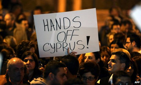 Cyprus banking crisis protest