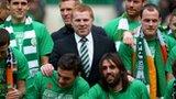 Celtic celebrate winning the SPL