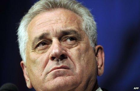 Serbian President Tomislav Nikolic (file image)