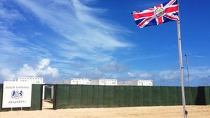 Bbc news william hague opens new british embassy in somalia for Consul container