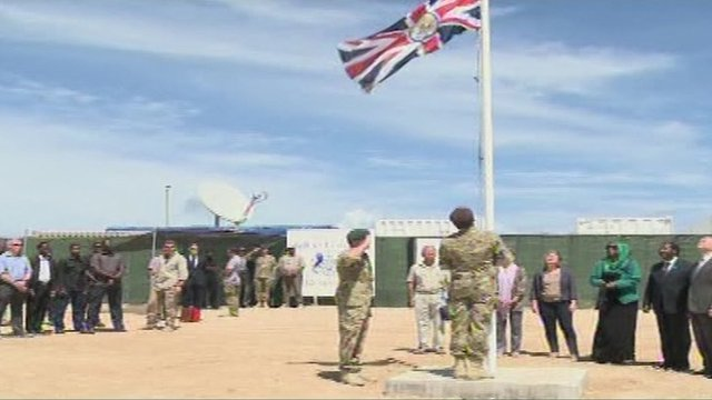 Flag raised at British embassy in Somalia