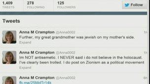 Anna-Marie Crampton's Twitter feed