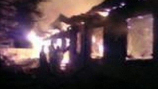 Blaze at hospital