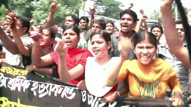 Protestors in Bangladesh