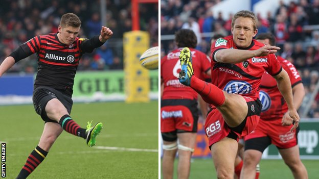 Owen Farrell and Jonny Wilkinson