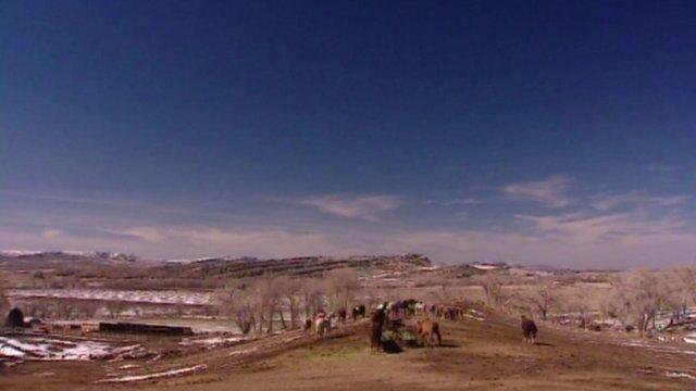 A ranch in North Dakota