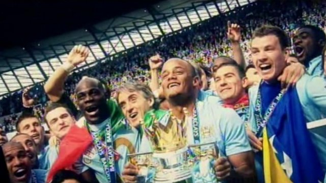 Manchester City celebrate Premier League championship in 2012
