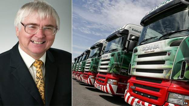 Bob Russell and Eddie Stobart vehicles