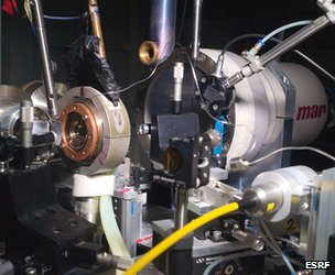 X-ray diffraction setup at ESRF