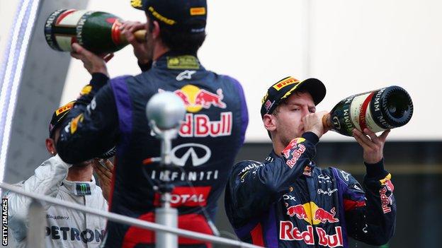 Red Bull's Mark Webber and Sebastian Vettel