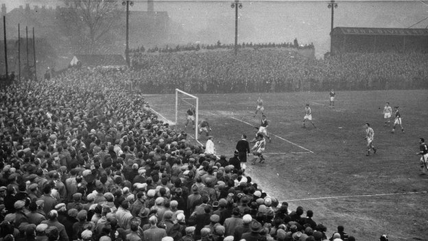 St George's Lane (Worcester City v Liverpool, January 1959)