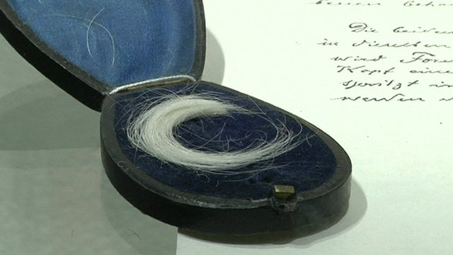 The lock of hair belonging to the Austro-Hungarian Emperor Franz Joseph