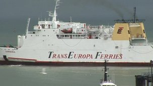 TransEuropa Ferries' ferry