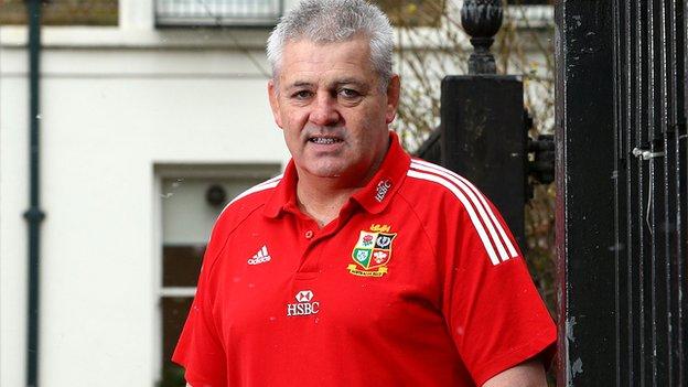 Lions head coach Warren Gatland