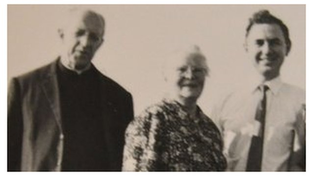 A photo taken in 1969 of Louis as a young man with his mother, Maria and Paul Bouvet at their reunion