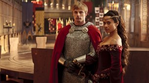 King Arthur and Guinevere in BBC's Merlin