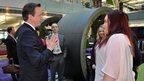 Prime Minister David Cameron with BBC apprentices