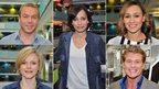 Chris Hoy, Kristin Scott-Thomas, Jessica Ennis, Maxine Peake and David Hasselhoff
