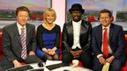 Charlie Stayt, Louise Minchin, will.i.am and Mike Bushell