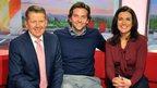 Bill Turnbull, Bradley Cooper and Susanna Reid