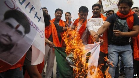 Protest in Jammu, Indian-administered Kashmir, 27 April
