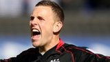 Ipswich Town goalkeeper Scott Loach celebrates his sides third goal