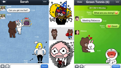 chats using stickers