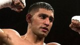 Amir Khan celebrates
