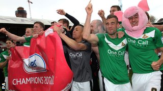 Doncaster celebrate promotion