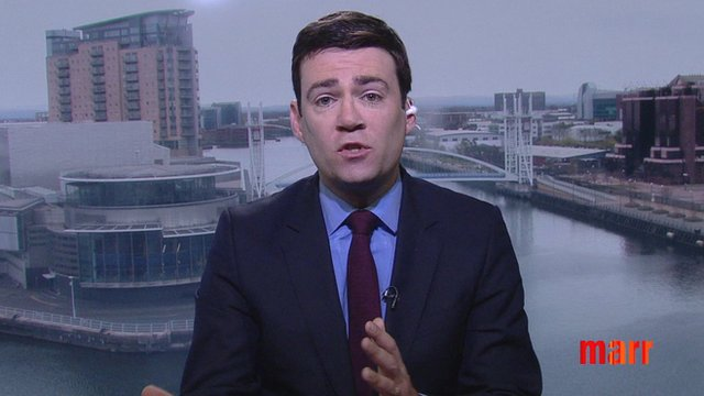 Shadow Health Secretary Andy Burnham on The Andrew Marr Show
