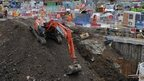 Work on the Crossrail scheme in London