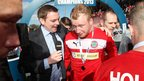 BBC Sport NI's Thomas Kane talks to Cliftonville's top scorer Liam Boyce after the Reds beat Ballinamallard 2-1