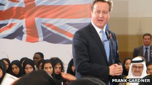 David Cameron on a visit to the UAE in November