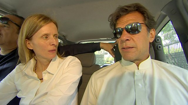 Orla Guerin and Imran Khan