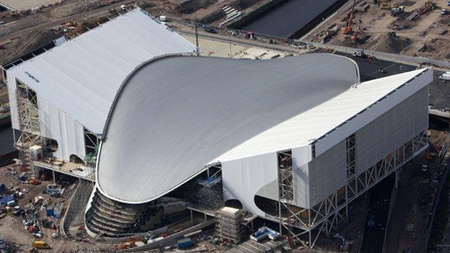 Aquatics centre roof