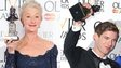Dame Helen Mirren and Luke Treadaway with their Olivier awards