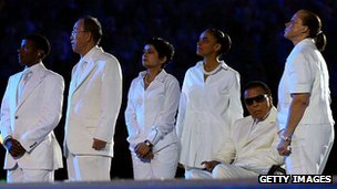 Muhammad Ali at the London 2012 opening ceremony