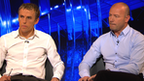 Phil Neville and Alan Shearer