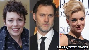 Olivia Colman, David Morrissey and Sheridan Smith